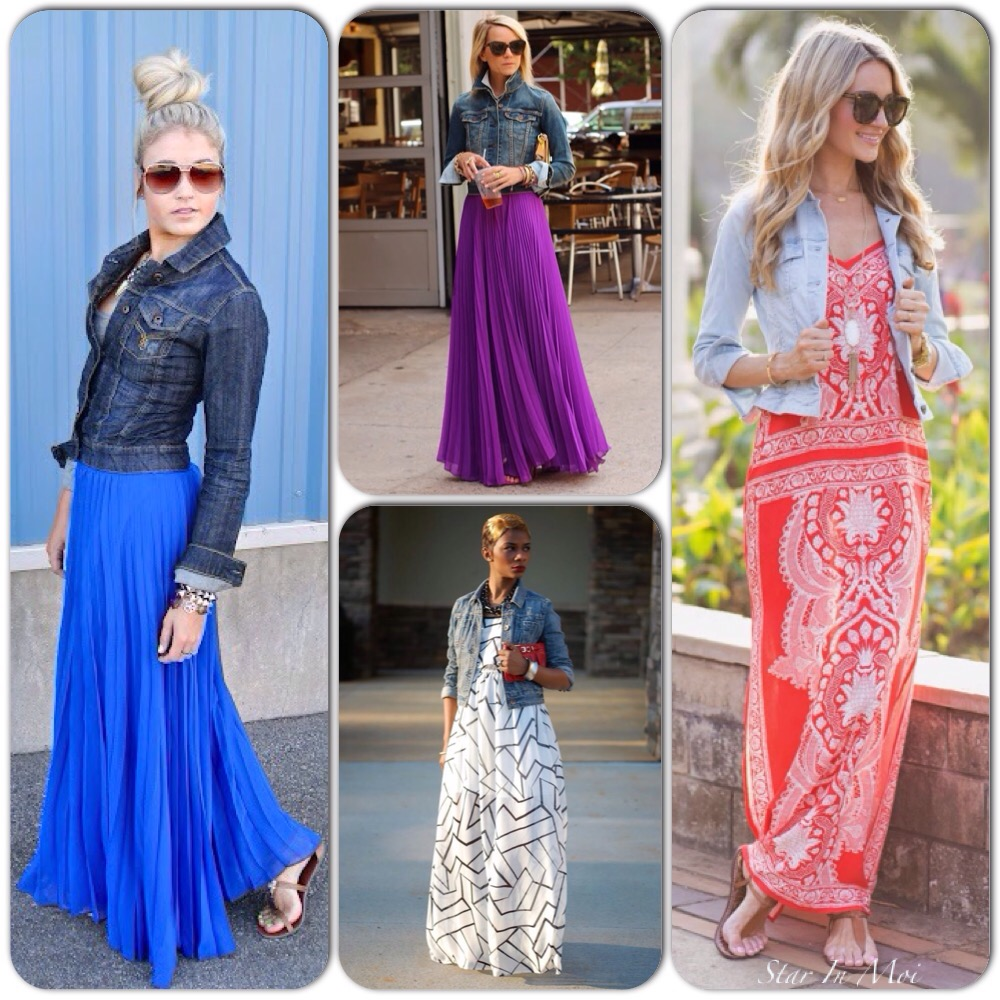 Street Style: Denim Jacket & Maxi Dress! | Star In Moi